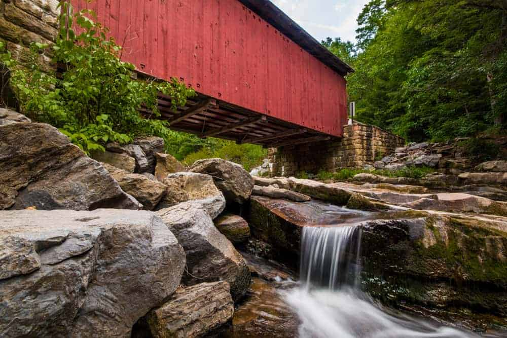 Packsaddle Covered Bridge in Somerset County, Pennsylvania