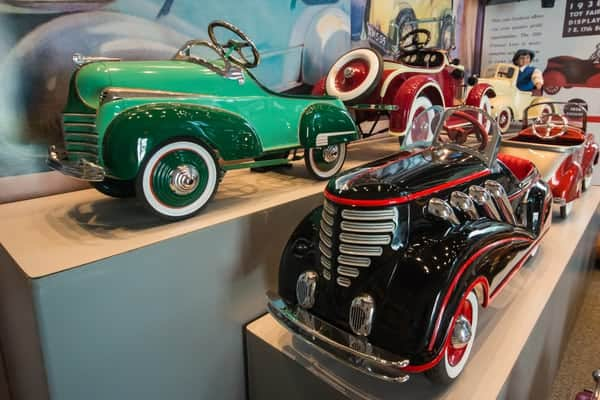 Peddle cars on display at America on Wheels in Allentown, Pennsylvania