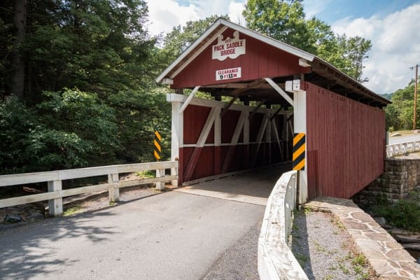 How to get to Packsaddle Covered Bridge in Somerset County, Pennsylvania