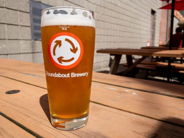 A glass of beer at Roundabout Brewery in Pittsburgh's Lawrenceville