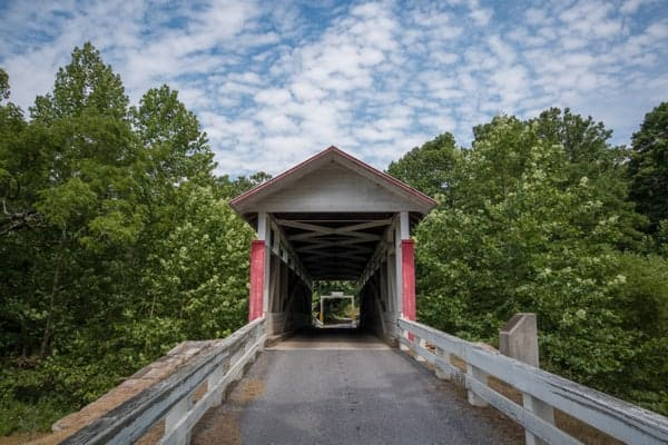 How to get to Hewitt Covered Bridge in Bedford County, Pennsylvania