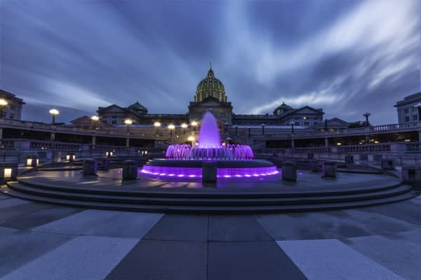 Places to shoot photos in Harrisburg: The Pennsylvania Capitol Fountain