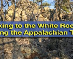 Hiking to the Beautiful White Rocks Along the Appalachian Trail in Boiling Springs
