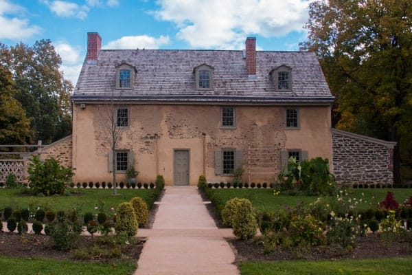 The Bartram House in Philadelphia's Bartram's Garden