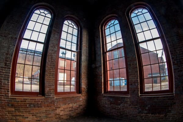 Inside the Cambria Iron Works in Johnstown, Pennsylvania