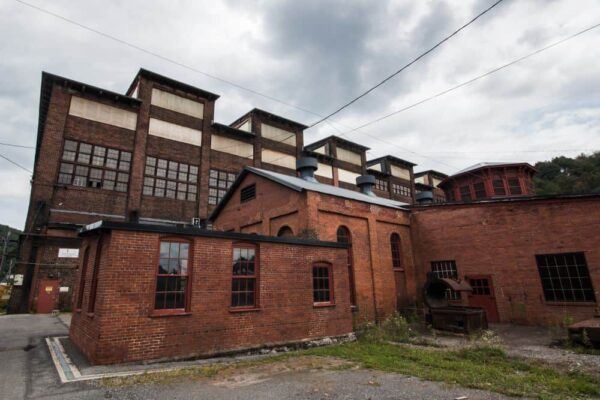 Exterior of Cambria Iron Works in Johnstown, PA