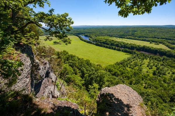 Overlook in the Delaware Water Gap National Recreation Area.