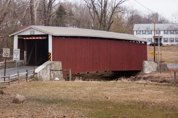 Kauffman Distillery Covered Bridge in Lancaster County, PA
