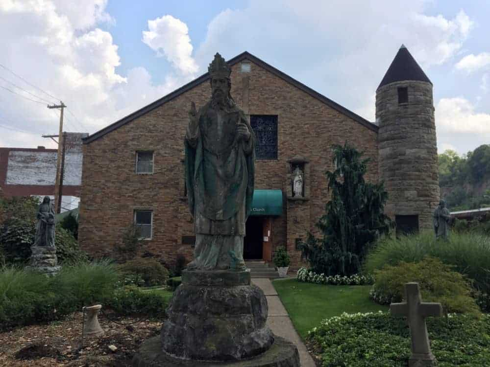 Churches to visit in Pittsburgh: Old St Patrick's Church in the Strip District