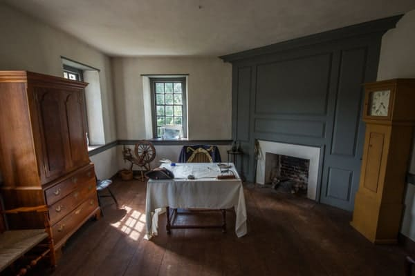 Inside Washington's Headquarters at the Brandywine Battlefield in Chadds Ford, Pennsylvania