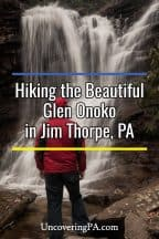 Hiking to Glen Onoko Falls in Jim Thorpe, Pennsylvania