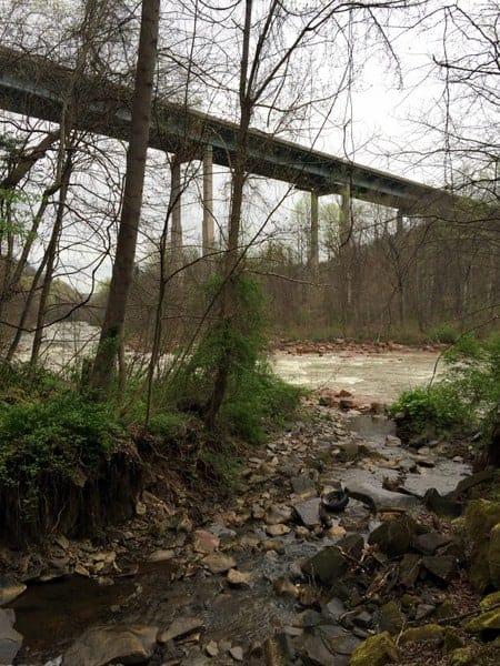 Route 219 bridge over Stony Creek River