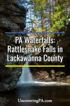 Pennsylvania Waterfalls: How to get to Rattlesnake Falls in Lackawanna County