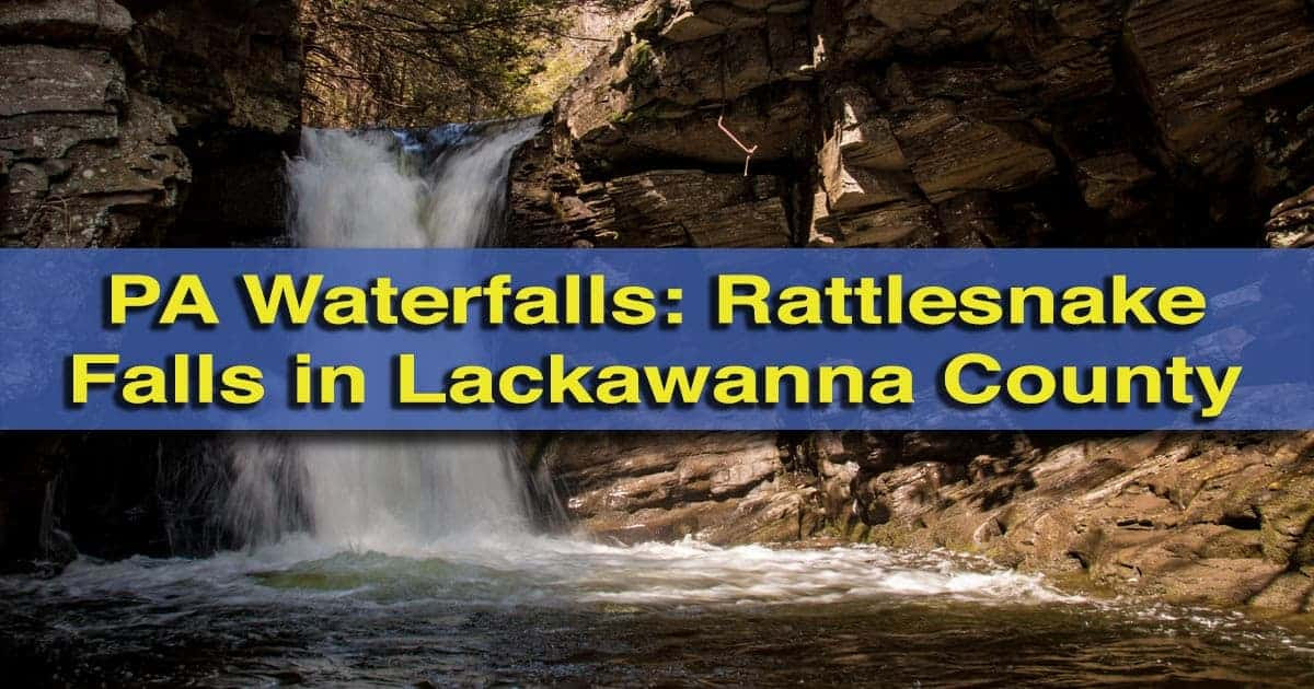 How to get to Rattlesnake Falls in Lackawanna County, Pennsylvania