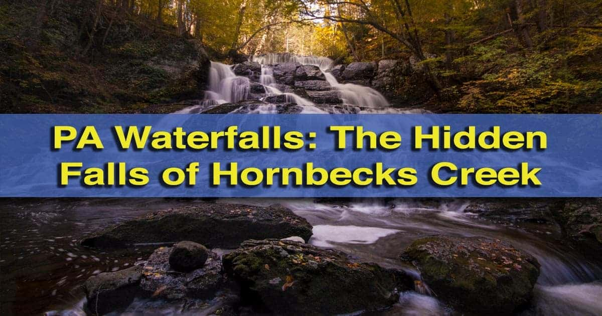 How to get to the waterfalls of Hornbecks Creek Trail in the Poconos of Pennsylvania