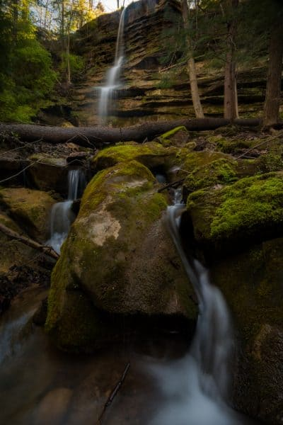 How to get to Alpha Falls in McConnells Mill State Park in Pennsylvania