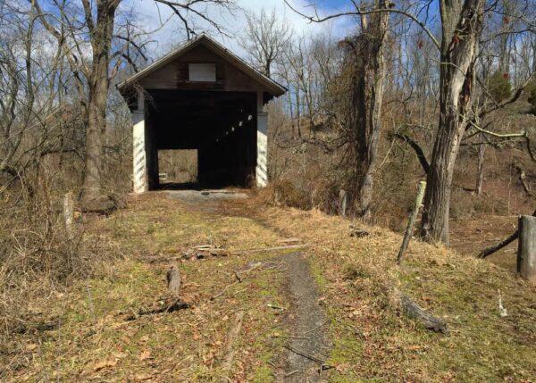 Feltons Mill Covered Bridge in Bedford County, Pennsylvania
