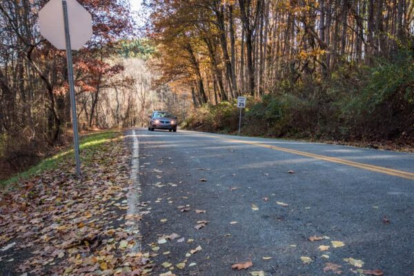 Gravity Hill in North Park, Pittsburgh, PA