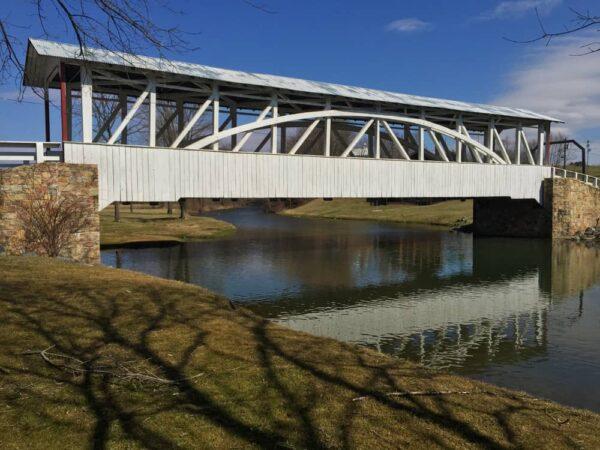Halls Mill Covered Bridge in Bedford County, Pennsylvania
