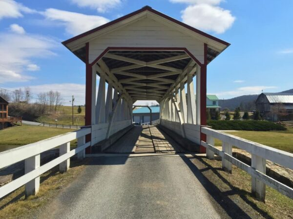 How to get to Halls Mills Covered Bridge in Bedford County, PA