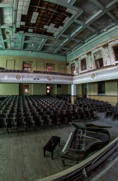 Auditorium at J.W. Cooper School in Schuylkill County, Pennsylvania