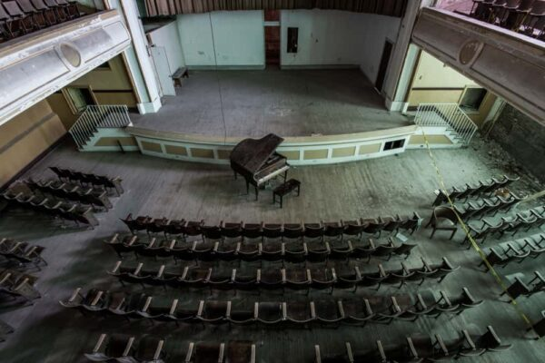 Inside the auditorium at J.W. Cooper School.