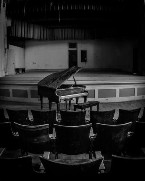 Piano at J.W. Cooper School in Pennsylvania