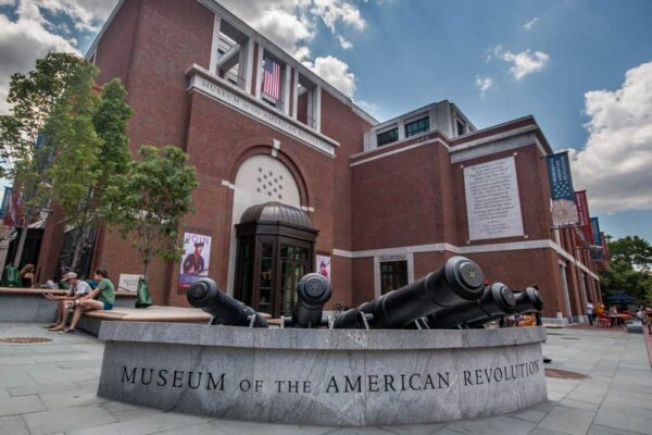 The exterior of the Museum of the American Revolution in Philadelphia, PA