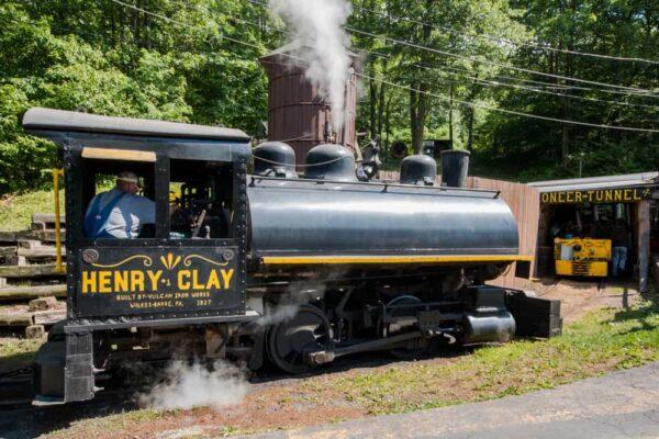 Steam Train in Ashland, Pennsylvania.