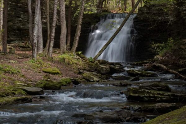 Where is Sand Run Falls in Pennsylvania?
