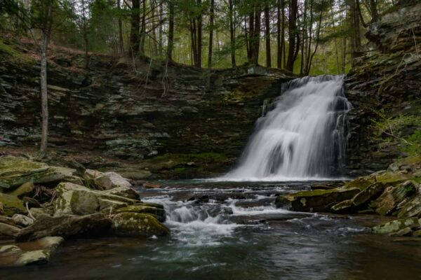 How to get to Sand Run Falls in Tioga County, PA