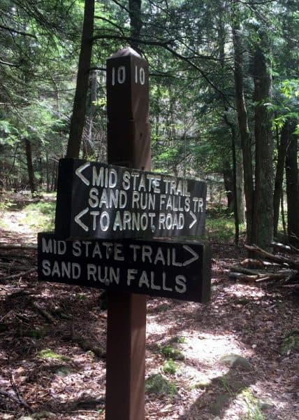 Hiking to Sand Run Falls in Tioga County, Pennsylvania