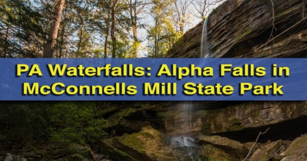 Hiking to Alpha Falls in McConnells Mill State Park