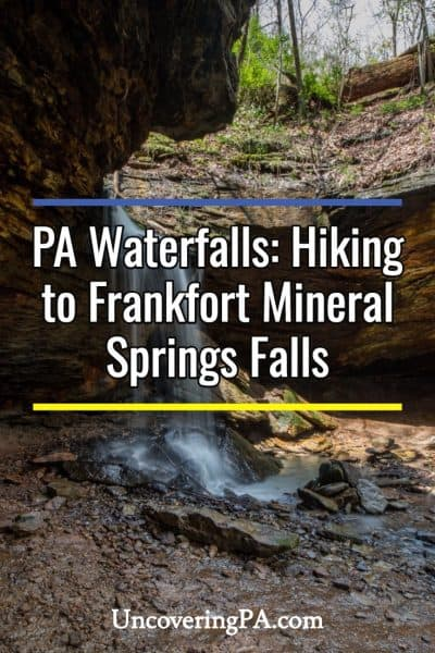 Pennsylvania Waterfalls: Frankfort Mineral Springs Falls in Raccoon Creek State Park
