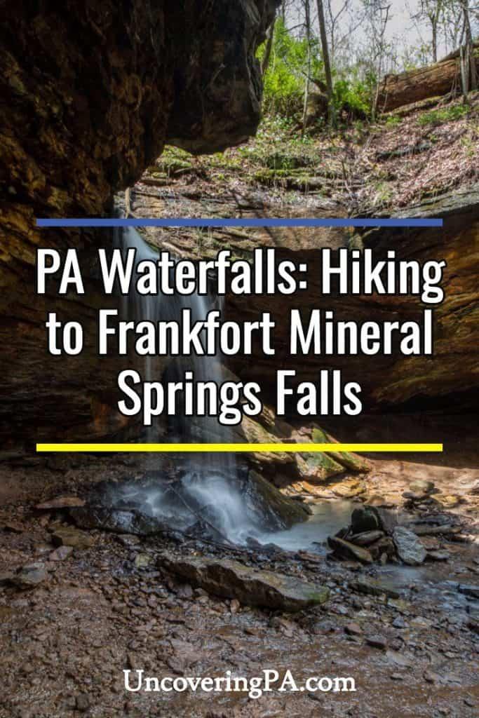 Pennsylvania Waterfalls: Frankfort Mineral Springs Falls in Raccoon Creek State Park