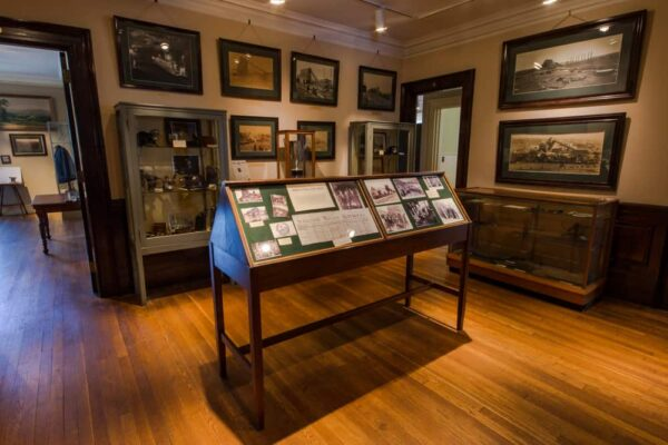 Visiting the Lackawanna Historical Society Museum in Scranton, Pennsylvania.