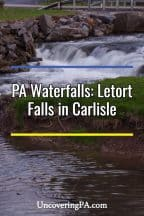 Pennsylvania Waterfalls: Letort Falls in Carlisle