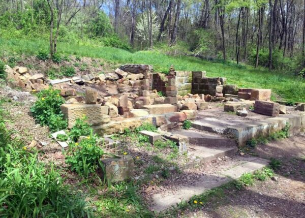 Frankfort Springs Hotel and Resort Ruins in Raccoon Creek State Park