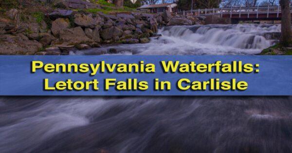 Waterfalls in Cumberland County, Pennsylvania: Letort Falls