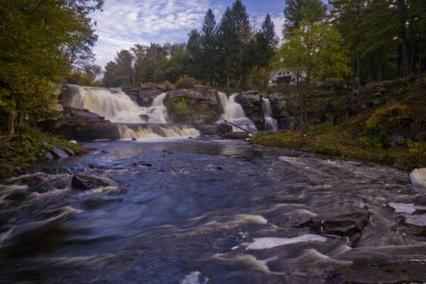 Resica Falls on Bushkill Creek in Monroe County, PA
