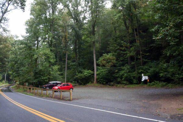 Parking lot at Tucquan Glen Nature Preserve