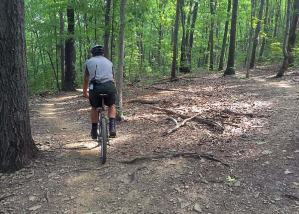 Biking the Allegrippis Trails in Huntingdon County, Pennsylvania