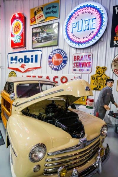 Wooodie at the Eagles Mere Auto Museum in Sullivan County, Pennsylvania