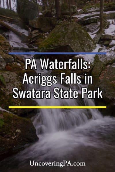 Acriggs Falls in Swatara State Park