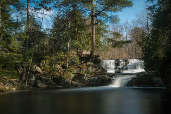 How to get to Choke Creek Falls in Lackawanna County, Pennsylvania