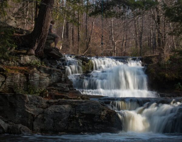 Choke Creek Falls in southern Lackawanna County, Pennsylvania