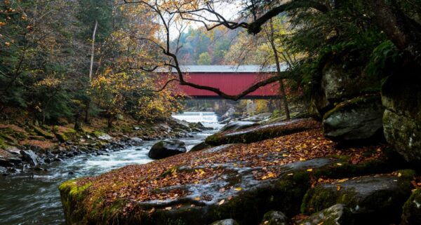 Top Pennsylvania Photos of 2017: McConnells Mill Covered Bridge