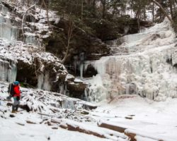 Hiking in a Winter Wonderland: Frozen Waterfalls at Ricketts Glen State Park