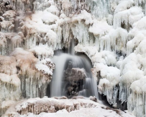 Winter at Ricketts Glen State Park in Pennsylvania