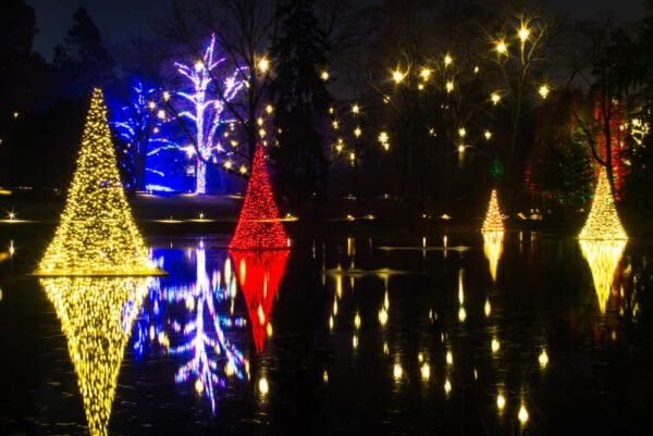 Holiday display at Longwood Gardens in Chester County, Pennsylvania